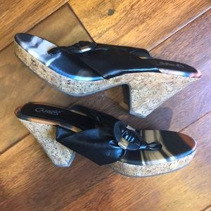 Gently used cork wedges